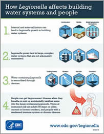 CDC Infographic - How Legionella Affects Building Water Systems and People