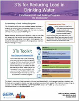 EPA 3Ts for Reducing Lead in Drinking Water Checklist