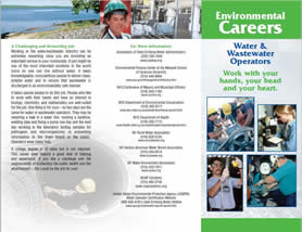 Environmental Careers Water & Wastewater Operators - Work with your hands, your head, and your heart.