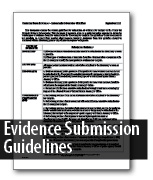Evidence Submission Guidelines