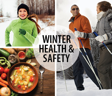 Image of healthy winter food and activities
