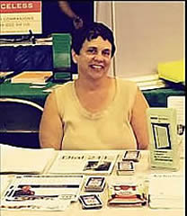 Bridget at Community Info. Fair