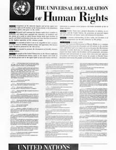 Image of the International Declaration of Human Rights