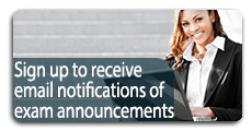 Get Email Notifications of Exam Annoncements