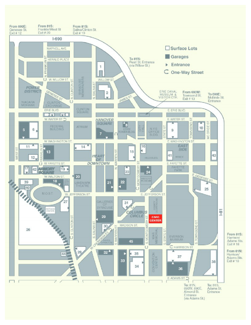 map of downtown syracuse