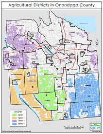 Onondaga County Agricultural Districts Map