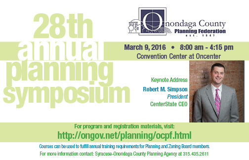 2016 Annual Planning Symposium Postcard