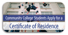 Community College students apply for a Certificate of Residence