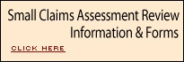 Small claims assessment review information  & forms button